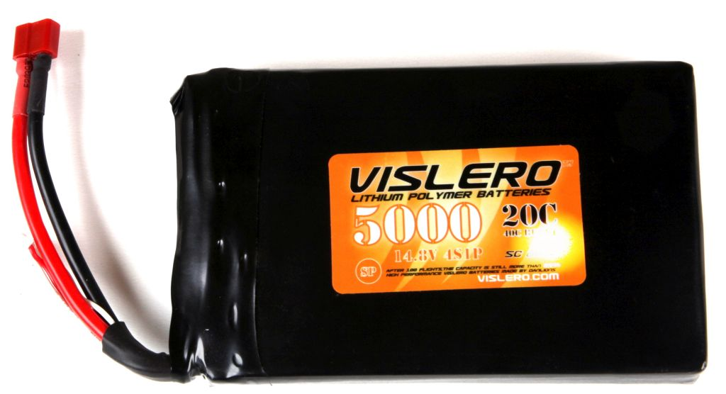 LiPo 14,8V 5000mAh / 20C (FLACH) - Click Image to Close